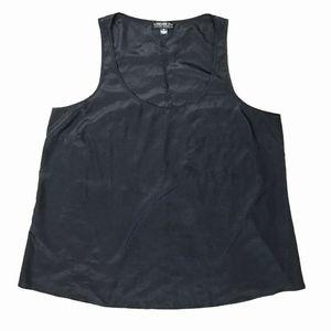 Forever 21 Plus 3X Black Tank Top Chest Pocket
